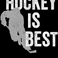 Hockey Is Best White Ice Gift Light by J P