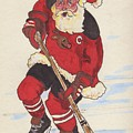 Hockey Santa by Todd  Peterson