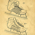 Hockey Skates Patent Art Blueprint Drawing by Edward Fielding
