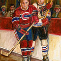 Hockey Stars At The Forum by Carole Spandau