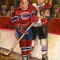 Hockey Stars At The Forum by Carole Spandau