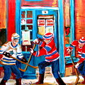 Hockey Sticks In Action by Carole Spandau