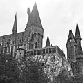 Hogwarts Castle Black And White by Aimee L Maher ALM GALLERY