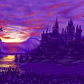 Hogwarts In Purple by Glenn Marshall
