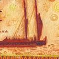 Hokulea At Anchor by Cynthia Conklin