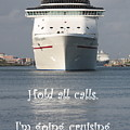 Hold All Calls I'm Going Cruising by Carol Groenen