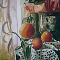 Holding   An Orange by Aleksandra Buha