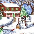 Holiday Card 07 by Donna Cavanaugh