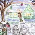 Holiday Card 08 by Donna Cavanaugh