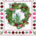 Holiday Wreath With Roses And Carnations by Lise Winne