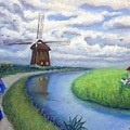 Holland Windmill Bike Path by Minaz Jantz