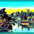 Hollenbeck Park Lake In Los Angeles, 1910 by Dwight Goss