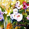 Hollyhock Garden 1 by Marti Green
