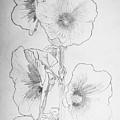 Hollyhocks by George Desire Herman