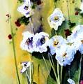 Hollyhocks by Marti Green