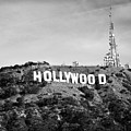 Hollywood California Sign In Black And White - Square Format by Gregory Ballos