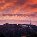 Hollywood Sign At Sunset by Konstantin Sutyagin