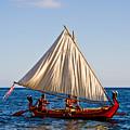 Holokai - Pacific Islander Sailing Canoe by Nature  Photographer