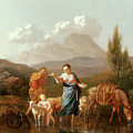 Holy Family At A Stream by Karel Dujardin