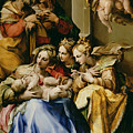 Holy Family With Saint Anne Catherine Of Alexandria And Mary Magdalene by Nosadella