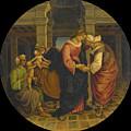 Holy Family With Saints John Elisabeth And Zacharias by Francesco Signorelli