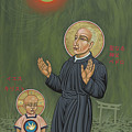 Holy Father Pedro Arrupe, Sj In Hiroshima With The Christ Child 293 by William Hart McNichols