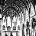 Holy Name Cathedral Chicago Bw 03 by Thomas Woolworth