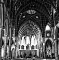 Holy Name Cathedral Chicago Bw 04 by Thomas Woolworth