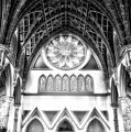 Holy Name Cathedral Chicago Bw 06 by Thomas Woolworth