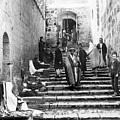 Holy Sepulchre Stairs by Munir Alawi