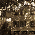 Mcleod Plantation Home In Black And White by Dale Powell