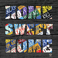 Home Sweet Home Rustic Vintage License Plate Lettering Sign Art by Design Turnpike