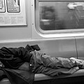 Homeless In Motion In Black And White by Rob Hans