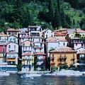 Homes Uphill In Italy by Marsha Heiken