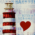 Hometown Bahamas Lighthouse by Brandi Fitzgerald