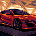 Honda Acura Nsx 2016 Mixed Media by Paul Meijering