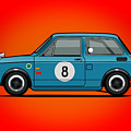 Honda N600 Blue Kei Race Car by Monkey Crisis On Mars