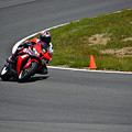 Honda Takes Turn 1 No 2 by Mike Martin