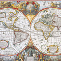 Hondius World Map, 1630 by Photo Researchers