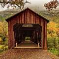 Honey Run Covered Bridge In Autumn by James Eddy