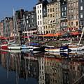 Honfleur Harbour France by Aidan Moran