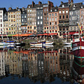 Honfleur Harbour Reflections by Aidan Moran
