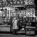 Hong Kong Foodmarket In Black And White, China by Ruurd Dankloff