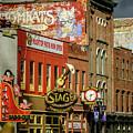 Honky Tonk Row - Nashville Tn by Debra Martz