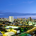 Honolulu City Lights by Carl Shaneff - Printscapes