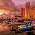 Honolulu Waterfront Oahu by Benny Marty
