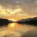 Hood River Golden Sunset by Charlene Mitchell