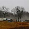 Hooker Road In The Fog 1 by Kathryn Meyer