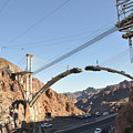 Hoover Dam Bypass Highway Under Construction by Gary Whitton