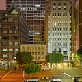 Hope Street Night Dtla by Richard Lund